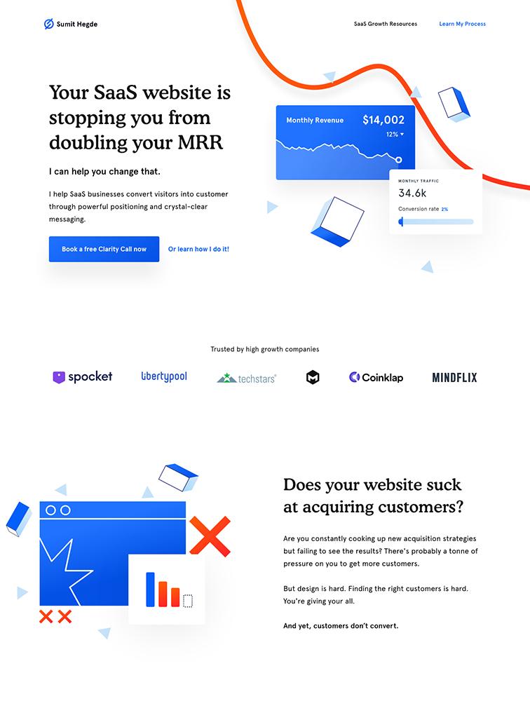 Sumit Hegde Landing Page Example