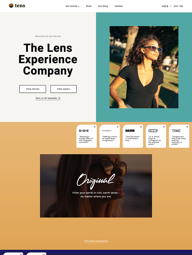 Tens Landing Page Example