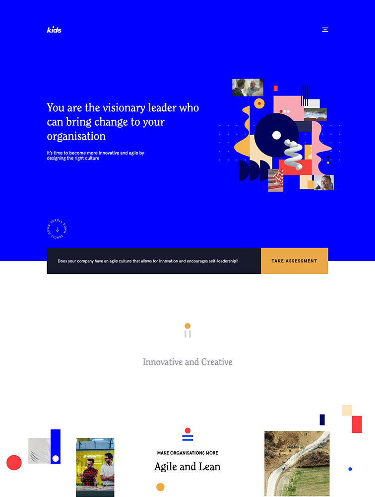Kids Creative Agency Landing Page Example