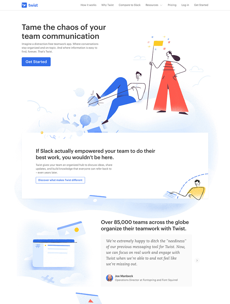 Twist Landing Page Example