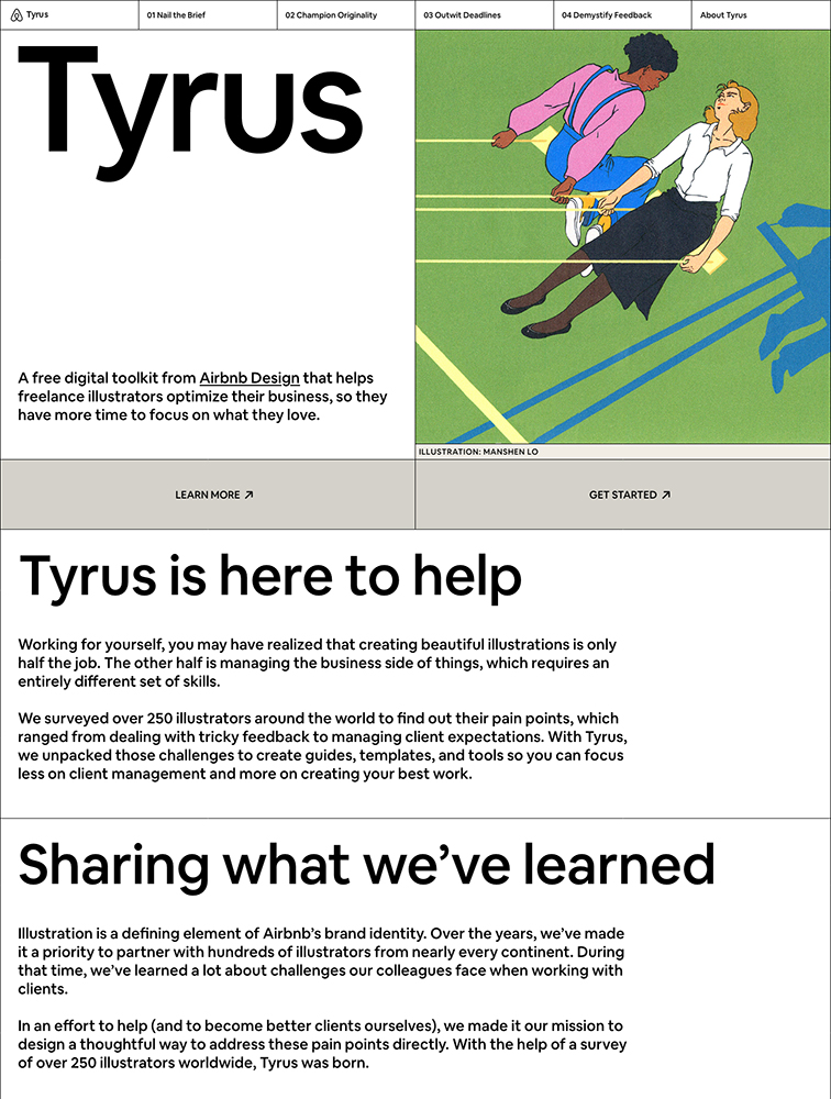 Tyrus Landing Page Example