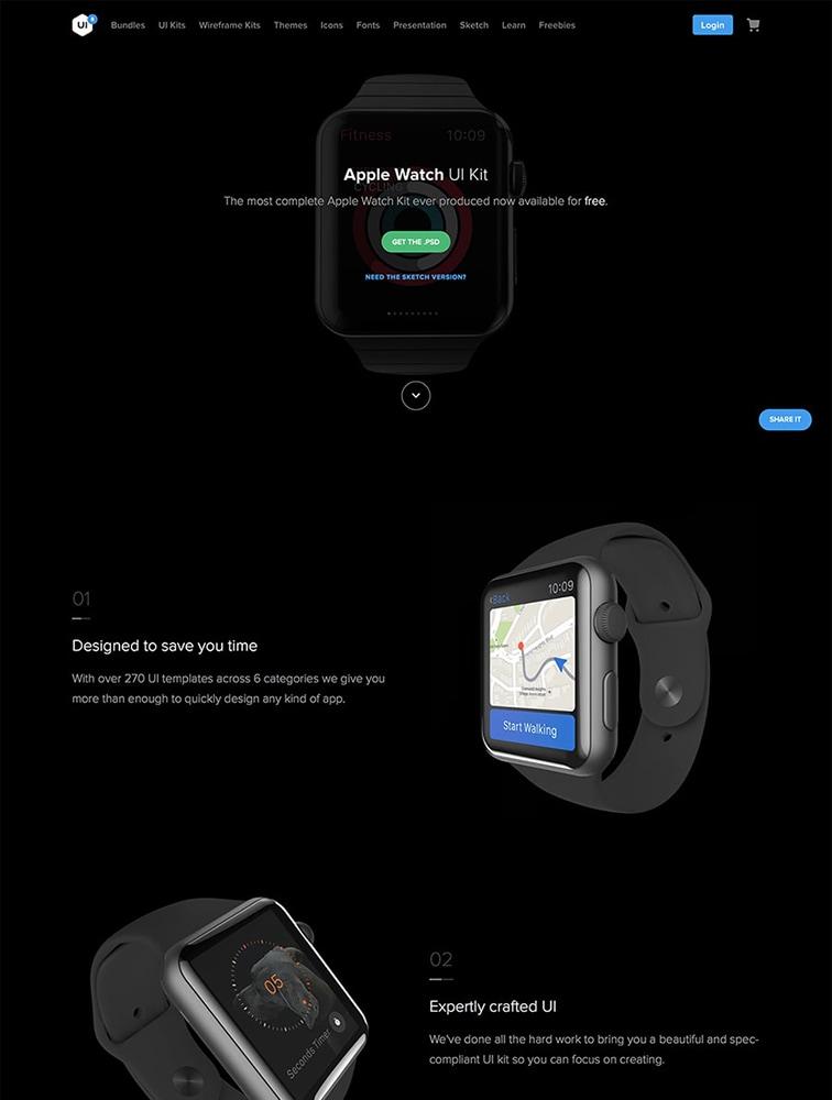 UI8 landing page design inspiration - Lapa Ninja