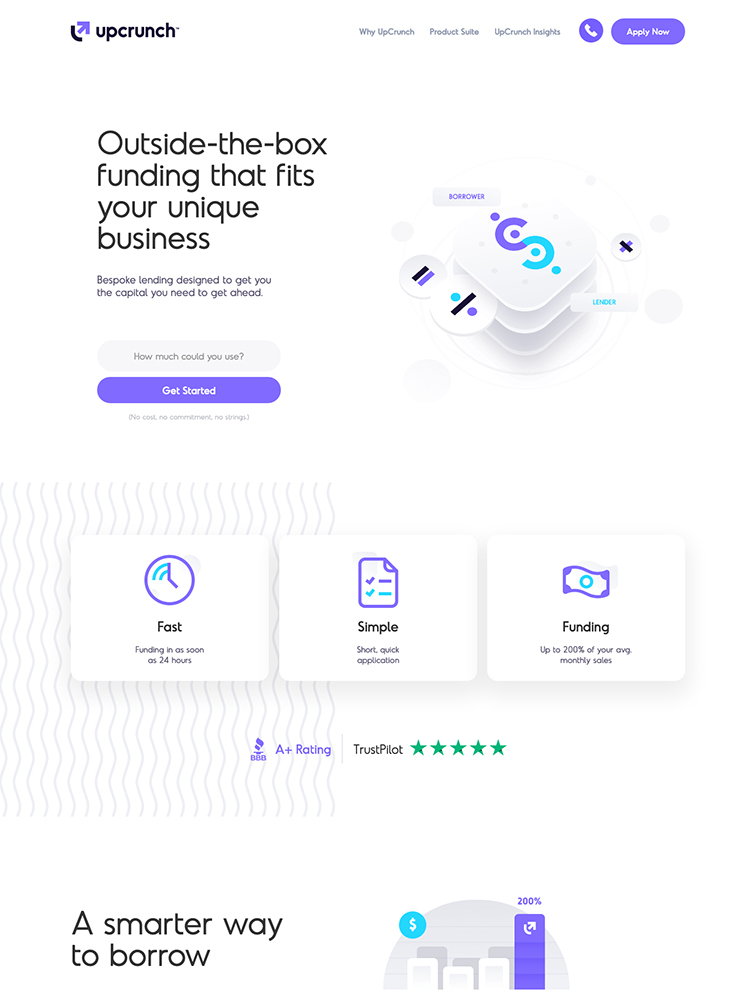 UpCrunch Landing Page Example