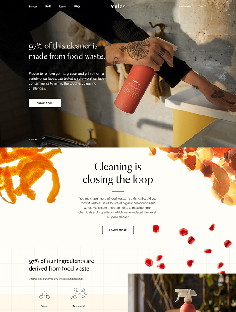 Veles Landing Page Example