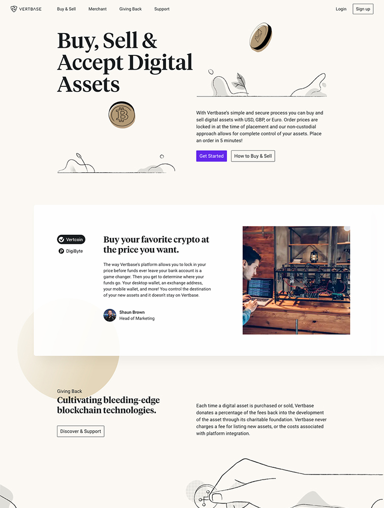 Vertbase Landing Page Example