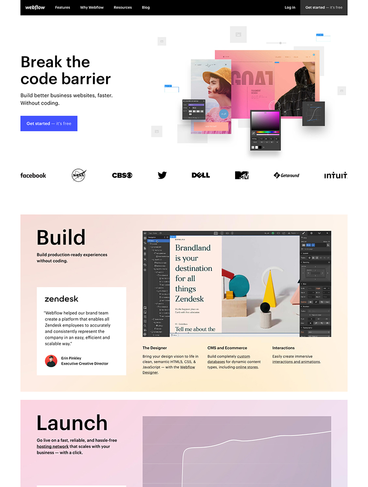 Webflow landing page design inspiration - Lapa Ninja