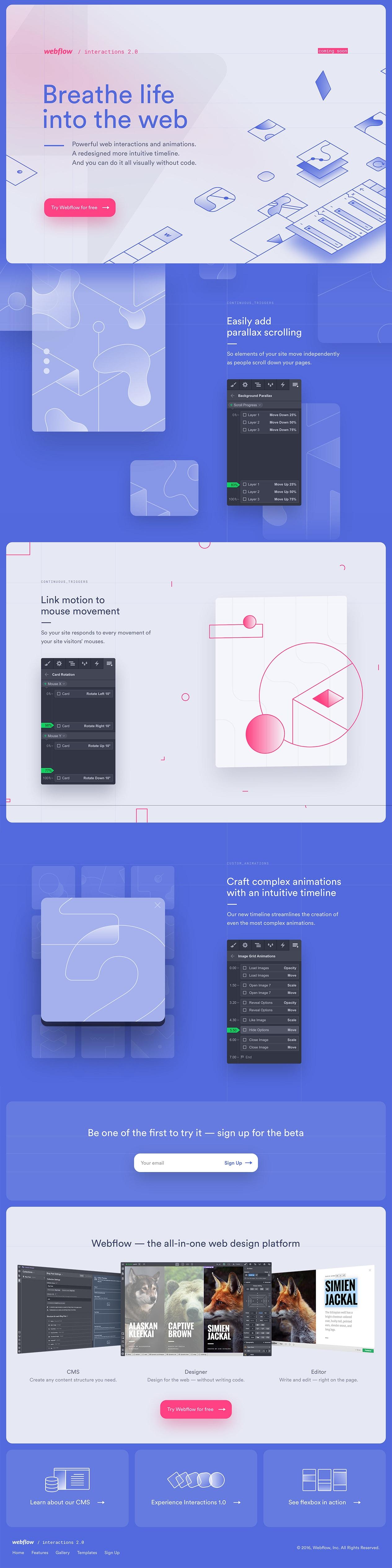 Webflow Interactions 2 0 landing page design inspiration - Lapa Ninja
