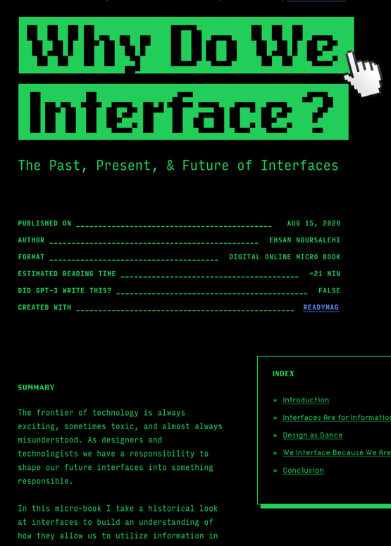 Download free ebook Why Do We Interface? - Lapa Ninja