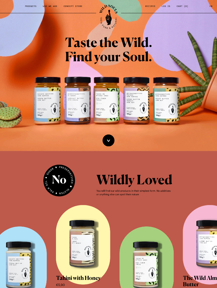 Wild Souls Landing Page Example